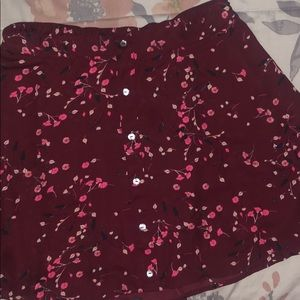 Patten mini skirt